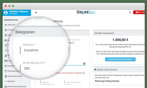 Online Kassabuch Registrierkasse