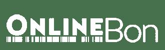 OnlineBon Logo Weiß