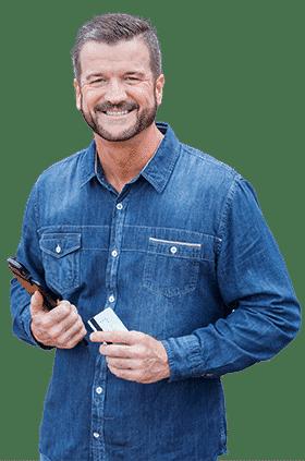 Einzelhändler mit Registrierkasse