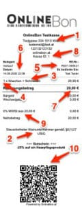Rechnungsmerkmale Rechnung Registrierkasse