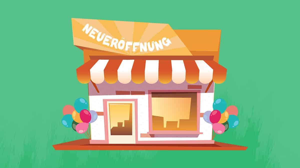 Geschäft Neueröffnung nach Firmengründung